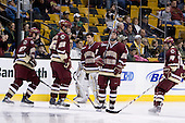 Andrew Orpik (BC - 27), Nick Petrecki (BC - 26), Andrew Margolin (BC - 30), Matt Price (BC - 25), Matt Lombardi (BC - 24) - The Boston College Eagles defeated the University of Vermont Catamounts 4-0 in the Hockey East championship game on Saturday, March 22, 2008, at TD BankNorth Garden in Boston, Massachusetts.