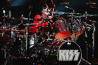 12/18/03 Inglewood, CA: Peter Criss and KISS perform at the LA Forum