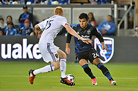 San Jose, CA - Saturday June 24, 2017: Nick Lima, Justen Glad during a Major League Soccer (MLS) match between the San Jose Earthquakes and Real Salt Lake at Avaya Stadium.