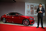 March 14, 2016, Tokyo, Japan - Mercedes Benz Japan president Kintaro Ueno introduces  Mercedes-Benz new C-class coupe at Mercedes' showroom in Tokyo on Monday, March 14, 2016 as Mercedes introduces the new coupe model on Japanese market. Tokyo fashion week sponsored by Merceds Benz started here on March 14 and runs through to the 19th.  (Photo by Yoshio Tsunoda/AFLO) LWX -ytd-