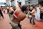 Dec 27, 2009 - Piraeus port, Greece - Shia Muslims migrants celebrates the Ashura at the port city of Piraeus near Athens. Shia Muslims beat and flog themselves in parades on this day, to express their grief and to reenact the pain that Hussein suffered. Credit Aristidis Vafeiadakis/ZUMA Press