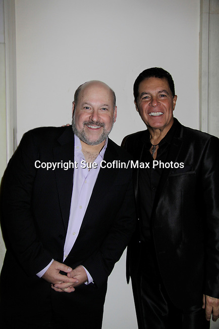 A night of entertainment by Frank Wildhorn (Jeckyll and Hyde, Bonnie & Clyde) and friends Clint Holmes (Las Vegas entertainer) at the Cafe Carlyle, New York City. (Photo by Sue Coflin/Max Photos)