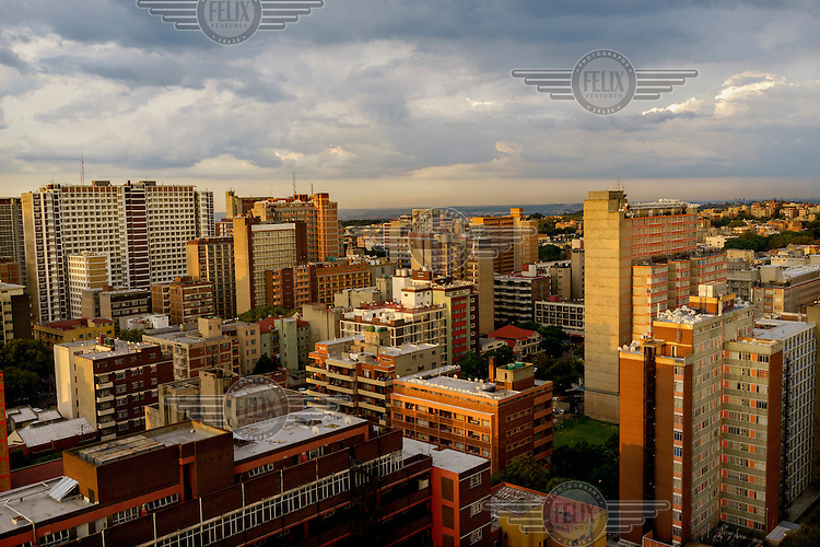 Hillbrow, in downtown Johannesburg, is the city's most notorious neighbourhood. It is overcrowded, ridden with illegal squats and suffers from high levels of crime much of which is related to the thriving illicit drug trade. During the Apartheid era Hillbrow was populated by middle-class whites but after majority rule its wealthier residents moved out but the population grew as foreign and rural migrants came in. The new population suffered with high rates of unemployment and the area received little investment.