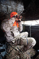OutdoorLife Editor Andrew McKean (cq) looks for white tail deer through binoculars during a hunt in Superior, Nebraska, Thursday, December 1, 2011. ..Photo by Matt Nager