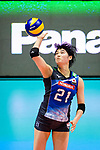 Ai Kurogo of Japan serves the ball during the match between China and Japan on May 30, 2018 in Hong Kong, Hong Kong. (Photo by Power Sport Images/Getty Images)