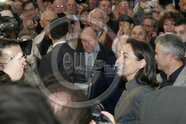 AIFFRES - FRANCE - 14 NOVEMBER 2006-- Ségolène (Segolene) ROYAL in the crowed of supporters while campaigning for her election as the socialist party candidate for the French presidential elections. -- PHOTO: JUHA ROININEN / EUP-IMAGES