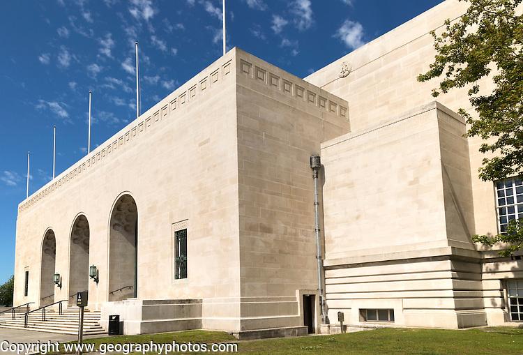 Entrance to Brangwyn Hall, Guildhall, Swansea, West Glamorgan, South Wales, UK