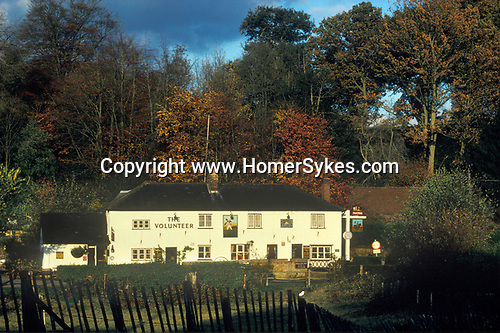 The Village Pub. The Volunteer. Sutton Abinger, Surrey,  England.