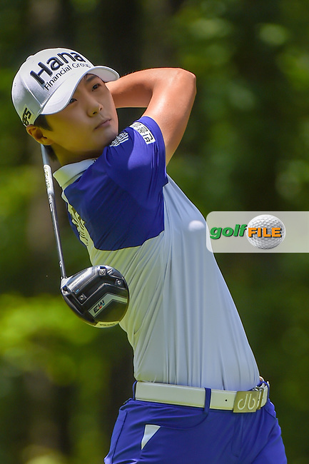 Sung Hyun Park (KOR) watches her tee shot on 2 during round 1 of the U.S. Women's Open Championship, Shoal Creek Country Club, at Birmingham, Alabama, USA. 5/31/2018.<br /> Picture: Golffile | Ken Murray<br /> <br /> All photo usage must carry mandatory copyright credit (© Golffile | Ken Murray)