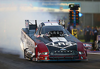 Apr 29, 2016; Baytown, TX, USA; NHRA funny car driver Tim Wilkerson during qualifying for the Spring Nationals at Royal Purple Raceway. Mandatory Credit: Mark J. Rebilas-USA TODAY Sports