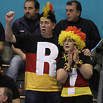15.01.2013 Granollers, Spain. IHF men's world championship, prelimanary round. Picture show  german supporters during game between Germany v Argentina at Palau d'esports de Granollers