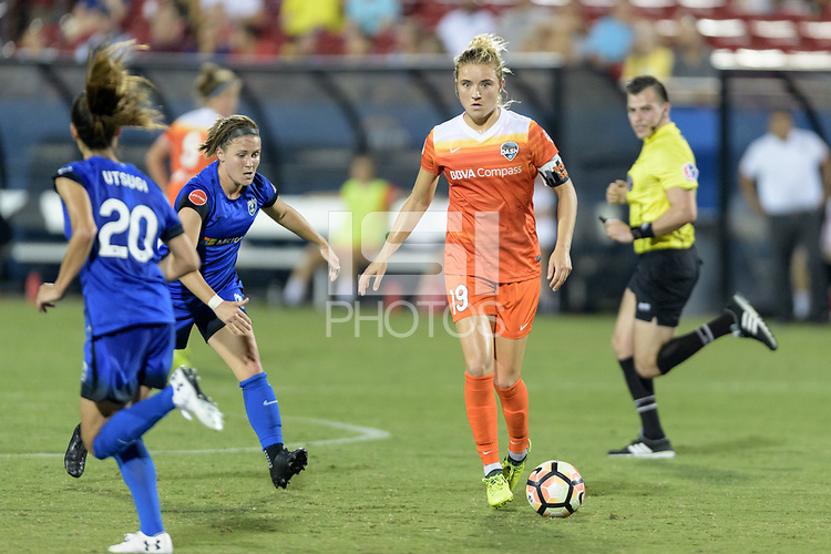 Frisco, TX - Sunday September 03, 2017: Kristie Mewis during a regular season National Women's Soccer League (NWSL) match between the Houston Dash and the Seattle Reign FC at Toyota Stadium in Frisco Texas. The match was moved to Toyota Stadium in Frisco Texas due to Hurricane Harvey hitting Houston Texas.
