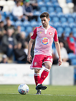 Michael Timlin of Stevenage in action during Colchester United vs Stevenage, Sky Bet EFL League 2 Football at the JobServe Community Stadium on 5th October 2019