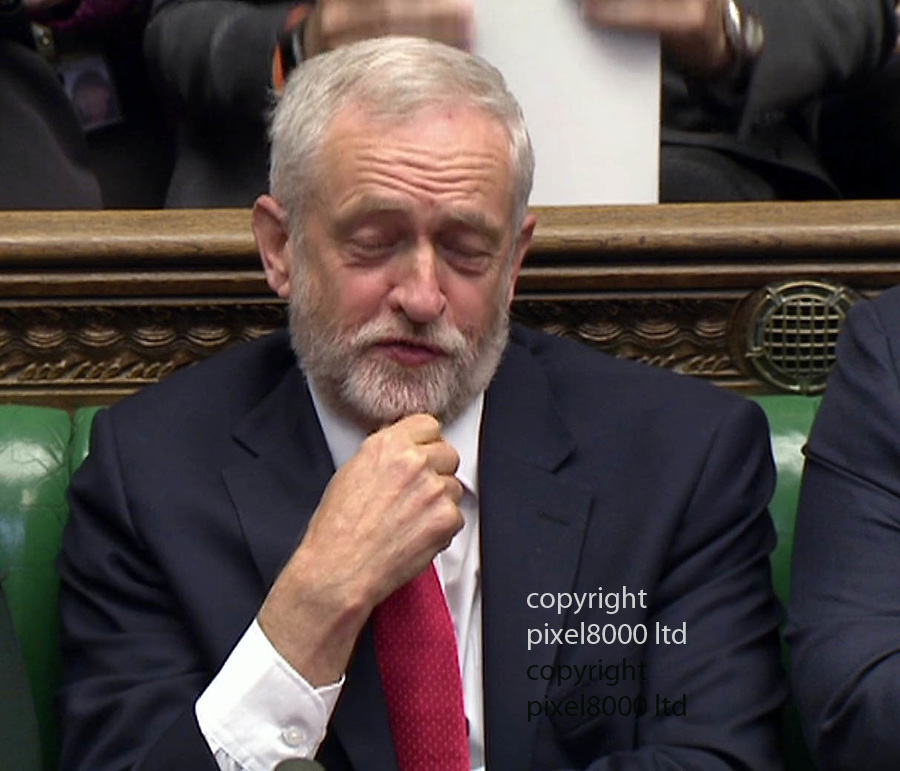 Pic shows: Final PMQ's of parliament and the longest ever.<br /> <br /> Jeremy Corbyn went back to his tactic of questions from public<br /> <br /> <br /> <br /> Picture by Pixel8000 07917221968