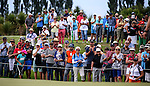 Spectators watch Lydia Ko. ISPS Handa NZ Woman's Open Round Two. Clearwater Golf Course, Christchurch, New Zealand, Saturday 13 February 2016. Photo: Simon Watts / BWmedia for NZ Golf<br /> All images &copy; NZ Golf and BWMedia.co.nz