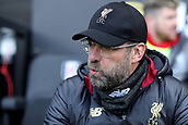 17th March 2019, Craven Cottage, London, England; EPL Premier League football, Fulham versus Liverpool; Liverpool Manager Jürgen Klopp blows a sign of relief as Liverpool win 1-2 from a late penalty
