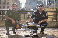 SÃO PAULO, SP - 24.04.2017: DORIA-SP - O prefeito João Doria apresenta o programa Dronepol, que usará drones de última geração pela Guarda Civil Metropolitana, durante coletiva realizada na sede da Prefeitura, no centro de São Paulo (SP), nesta segunda-feira (24). (Foto: Danilo Fernandes/Brazil Photo Press)
