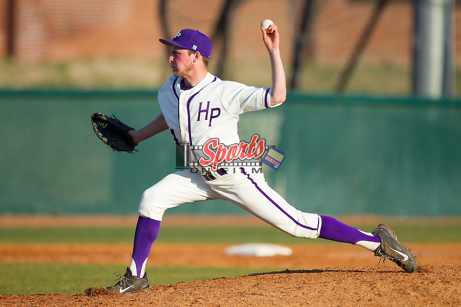High Point Panthers relief pitcher Jeremy Johnson (14) in action against the Bowling Green Falcons at Willard Stadium on March 9, 2014 in High Point, North Carolina.  The Falcons defeated the Panthers 7-4.  (Brian Westerholt/Sports On Film)