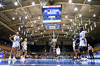 DURHAM, NC - JANUARY 16: Destinee Walker #24 of Notre Dame University shoots a free throw during a game between Notre Dame and Duke at Cameron Indoor Stadium on January 16, 2020 in Durham, North Carolina.