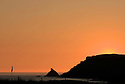 Sunset 4th green/Trevose Golf & Country Club,Constantine Bay, Padstow, Cornwall..Photo Credit / Phil Inglis.....