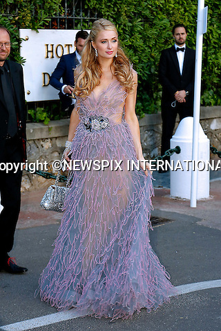 12.05.2015, Antibes; France: PARIS HILTON<br /> attends the Cinema Against AIDS amfAR Gala 2015 held at the Hotel du Cap, Eden Roc in Cap d'Antibes.<br /> MANDATORY PHOTO CREDIT: &copy;Thibault Daliphard/NEWSPIX INTERNATIONAL<br /> <br /> (Failure to credit will incur a surcharge of 100% of reproduction fees)<br /> <br /> **ALL FEES PAYABLE TO: &quot;NEWSPIX  INTERNATIONAL&quot;**<br /> <br /> Newspix International, 31 Chinnery Hill, Bishop's Stortford, ENGLAND CM23 3PS<br /> Tel:+441279 324672<br /> Fax: +441279656877<br /> Mobile:  07775681153<br /> e-mail: info@newspixinternational.co.uk