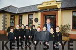 Gaelscoil Aogain Castleisland Students and teachers are featuring on TG4 this Sunday in a program called Class Act. The Show depicts life inside the country's Irish language schools. Several students were interviewed as part of the series and it shows different aspects like music and sport  inside the Castleisland school. Pictured front l-r Sean O Braoin, Aoife Ni Laoire, Brid Nic Gearailt, Josh Elvins with principal Tomas O'Conchuir  Back l-r Eoghan Shire, Blathnaid ni Chaghasiagh, Billy Breathnach, Padraig o Se,  Finn Nuallain