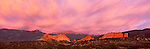 panorama, Garden of the Gods, sunset, Colorado Springs, Rocky Mountains, Colorado, skyline, summer