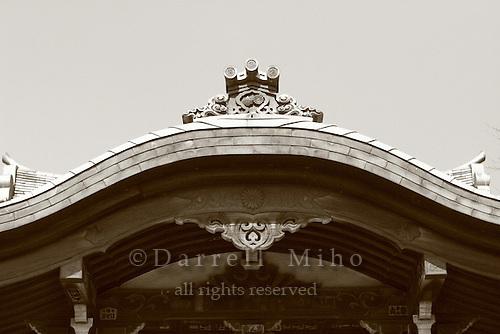 Mar 8, 2006; Tokyo, JPN; Ueno.Roof detail of shrine at Ueno Park...Photo credit: Darrell Miho