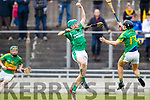 Ally O'Connor Ballyduff in action against Jason Wallace Lixnaw in the Senior County Hurling Final in Austin Stack Park on Sunday