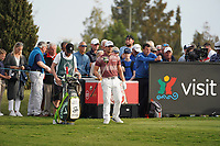 Haydn Porteous (RSA) on the 18th during Round 4 of the Portugal Masters, Dom Pedro Victoria Golf Course, Vilamoura, Vilamoura, Portugal. 27/10/2019<br /> Picture Andy Crook / Golffile.ie<br /> <br /> All photo usage must carry mandatory copyright credit (© Golffile | Andy Crook)