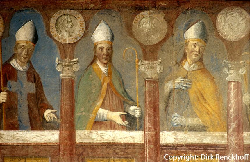 Fresken im Bischofspalast, Trient (Trento), Venetien, Italien