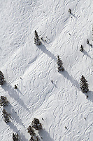 Ski trails on slopes of Monarch Ski Area