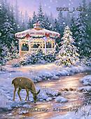 Dona Gelsinger, CHRISTMAS LANDSCAPES, WEIHNACHTEN WINTERLANDSCHAFTEN, NAVIDAD PAISAJES DE INVIERNO, paintings+++++,USGE1442,#xl#,deer