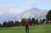 Martin Kaymer (GER) on the 17th during the 1st day of the Omega European Masters, Crans-Sur-Sierre, Crans Montana, Switzerland..Picture: Golffile/Fran Caffrey..