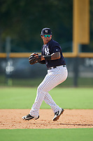 New York Yankees Nelson Gomez (50) during a Florida Instructional League game against the Philadelphia Phillies on October 11, 2018 at Yankee Complex in Tampa, Florida.  (Mike Janes/Four Seam Images)