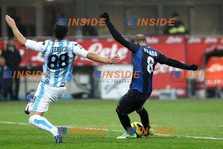 "Gol Rodrigo Palacio Inter.Goal.Milano 12/01/2013 Stadio ""S.Siro"".Football Calcio Serie A 2012/13.Inter v Pescara.Foto Insidefoto Paolo Nucci."