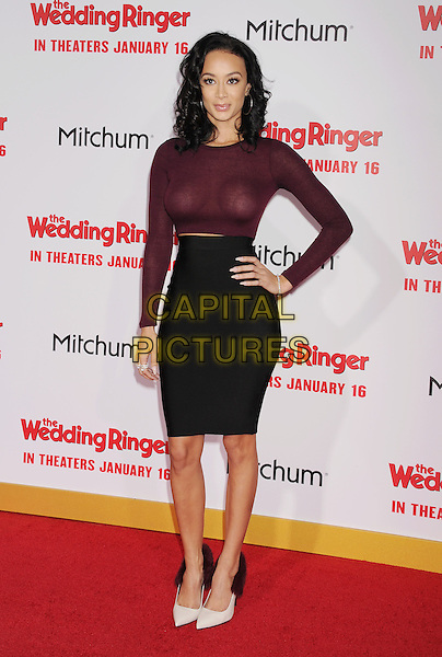 HOLLYWOOD, CA - JANUARY 06: TV personality Draya Michele attends the world premiere of 'The Wedding Ringer' at TCL Chinese Theatre on January 6, 2015 in Hollywood, California.<br /> CAP/ROT/TM<br /> &copy;TM/ROT/Capital Pictures