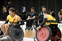 Greg Smith & Brad Dubberley (AUS) vs GB<br /> Australian Wheelchair Rugby Team<br /> 2018 IWRF WheelChair Rugby <br /> World Championship / Semi Finals<br /> Sydney  NSW Australia<br /> Thursday 9th August 2018<br /> © Sport the library / Jeff Crow / APC