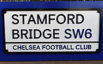 Signage around the Stamford Bridge stadium home of Chelsea FC before the start of the Premier League match at Stamford Bridge, London. Picture date: 30th November 2019. Picture credit should read: Robin Parker/Sportimage