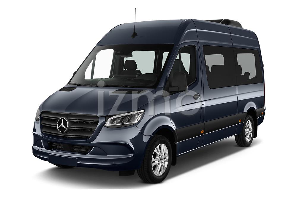 2019 Mercedes Benz Sprinter-Tourer Design-Line 4 Door Passanger Van Angular Front stock photos of front three quarter view