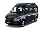 2019 Mercedes Benz Sprinter-Tourer Design-Line 4 Door Passanger Van Angular Front stock photos of front three quarter view