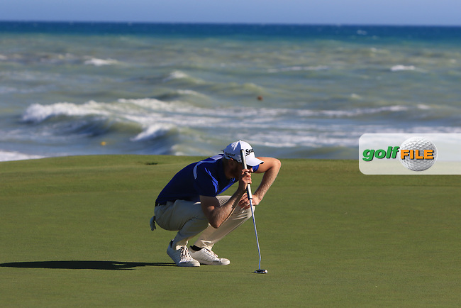 Sebastian Soderberg (SWE) on the 15th green during Round 3 of The Rocco Forte Open  at Verdura Golf Club on Saturday 20th May 2017.<br /> Photo: Golffile / Thos Caffrey.<br /> <br /> All photo usage must carry mandatory copyright credit     (&copy; Golffile | Thos Caffrey)