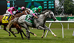 ELMONT, NY - JUNE 09: Disco Partner  #5, ridden by Irad Ortiz, Jr., wins the Jaipur Invitational Stakes on Belmont Stakes Day at Belmont Park on June 9, 2018 in Elmont, New York. (Photo by Sue Kawczynski/Eclipse Sportswire/Getty Images)