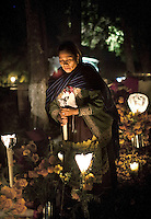 Night vigil at the graveyard, Tzintzuntzan, Mexico