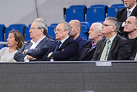 Real Madrid's president Florentino Perez and ACB president, Francisco Roca during Finals match of 2017 Mini King's Cup at Fernando Buesa Arena in Vitoria, Spain. February 19, 2017. (ALTERPHOTOS/BorjaB.Hojas) /NortEPhoto.com