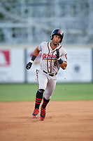 Richmond Flying Squirrels right fielder Luigi Rodriguez (6) runs the bases during a game against the Altoona Curve on May 15, 2018 at Peoples Natural Gas Field in Altoona, Pennsylvania.  Altoona defeated Richmond 5-1.  (Mike Janes/Four Seam Images)