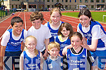 Tralee Harriers athletes at the Gneeveguilla AC open day in Castleisland on Sunday front row l-r: Rachel Bowler, Daniel Bowler, Emma McCarthy. Back row: Jason Roche, Jack McGuire, Emer Brosnan, Shane Browne and Lucy McGrath