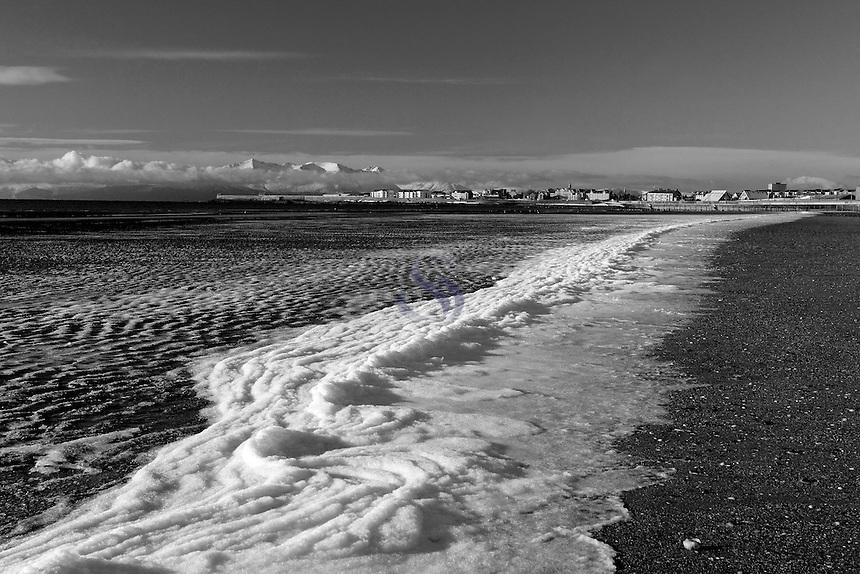 Looking towards Saltcoats and Arran from Stevenston Beach, Ayrshire