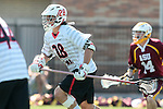 Orange, CA 05/02/10 - Andrew Salcido (Chapman # 28) in action during the Chapman-Arizona State MCLA SLC Division I final at Wilson Field on Chapman University's campus.  Arizona State defeated Chapman 13-12 in overtime.