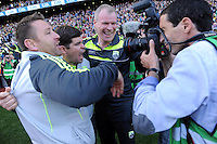 Eamonn Fitzmaurice celebrates in the All-Ireland Football Final against Donegal in Croke Park 2014.<br /> Photo: Don MacMonagle<br /> <br /> <br /> Photo: Don MacMonagle <br /> e: info@macmonagle.com